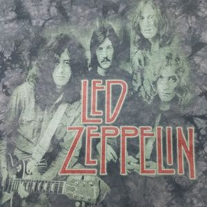 Vintage Shirts - Vintage Led Zeppelin Tie Dye Shirt Large
